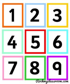 Free download - numicon colour coded number cards