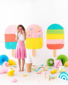Popsicle Balloon Wall | Oh Happy Day! | Bloglovin'