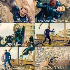 Avengers: age of Ultron Captain mess with an Ultron-bot. Iron Man Capitan America, Captain America, Capitan America Chris Evans, Marvel Jokes, Marvel Funny, Marvel Dc Comics, Marvel Heroes, Avengers Age, Avengers Movies