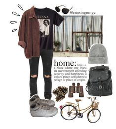 """Untitled #1012"" by plumpyprincess ❤ liked on Polyvore featuring RtA, NIKE, WALL, Nirvana, Topshop, Handle and Old Navy"