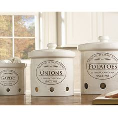 Great looking containers for the kitchen