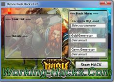 The Throne Rush Hack is ready for download. Use Throne Rush Hack working tool.