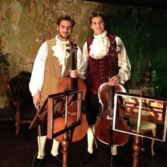 Handsome in any era #2cellos #stjepanhauser #lukasulic #cello #maestro #talented #musicians #gentlemen