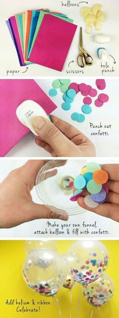 Lever Punch by Recollections™ Add a pop of color to any party with these Confetti Balloons! Make in just a few easy steps!Add a pop of color to any party with these Confetti Balloons! Make in just a few easy steps! Unicorn Birthday, Unicorn Party, 21st Birthday, It's Your Birthday, Birthday Message, Birthday Ideas, Birthday Parties, Birthday Balloons, Themed Parties