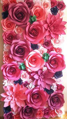 Gigantesco papel flor muro perfecto para su escenario de bodas, eventos y más! ¿Buscando flores para su evento? Podemos hacer que sucede. ¿Encanta el look, pero no es necesario absolutamente que muchos? Podemos trabajar juntos en un orden personalizado. Todas las flores están