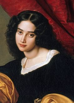 Details, Julius Hübner: portrait of his wife- Pauline Charlotte Hübner Portrait Renaissance, Renaissance Kunst, Renaissance Paintings, L'art Du Portrait, Female Portrait, Female Art, Rennaissance Art, Baroque Art, Classic Paintings