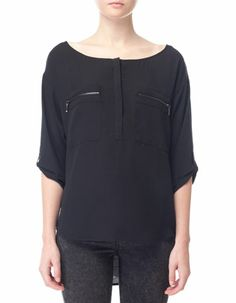 Shirt with pockets and zip detail from STRADIVARIUS