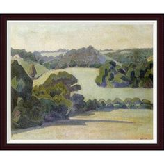 Global Gallery West Country Landscape by Robert Bevan Framed Painting Print Size: