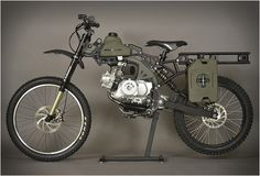 Remember the popular post we did on the Motoped conversion kit? Now the same guys behind the petrolhead DIY project have presented their new kit, the Motopeds Survival Bike : Black Ops Edition. The apocalypse ready ride is built with the same kit as