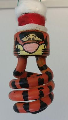 christmas tigger light bulb ornament by 4HoldThePhone on Etsy