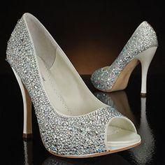 Bridal Shoes Benjamin Adams Designer High Heels With Ivory Color A Sparkling Ornament