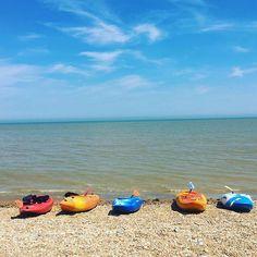 A day at the beach #Sunday #beach #kayaking #kayaks #dagger #sea #seaside