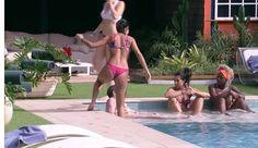 Munik mostra corpo em boa forma, em dia de piscina no 'BBB16', 29 de janeiro de 2016 - Reprodução, TV Globo