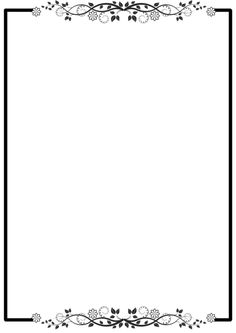 , Frame Border Design, Page Borders Design, Boarders And Frames, Borders Free, Borders For Paper, Free Photoshop, Floral Border, Writing Paper, Coloring Pages