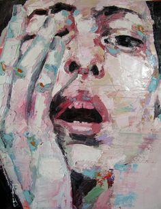 "Saatchi Art Artist thomas donaldson; Painting, ""12-21-13 head"" #art"