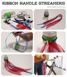 Ribbon bike handle streamers