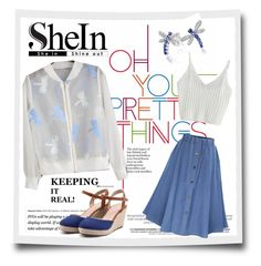 """""""SHEIN: White Organza Jacket"""" by teez-biz-nez ❤ liked on Polyvore featuring WithChic and Bling Jewelry"""