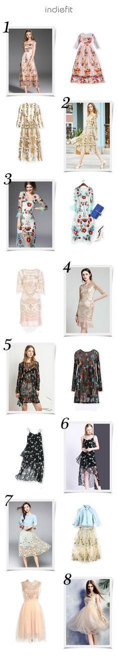 Latest Chic & Trendy Embroidered Dresses