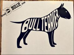 My Bull Terrier Loves Your Stick Family Vinyl Decal Sticker for Cars Wall Laptop