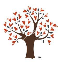Heart tree vector on VectorStock®