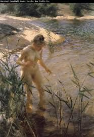 Reflexions 1889 By Anders Zorn Replica Paintings on Canvas - Reproduction Gallery Famous Art Paintings, Famous Artwork, Paintings Online, Alphonse Mucha, Claude Monet, Edouard Manet, Albert Bierstadt, Edward Moran, August Macke