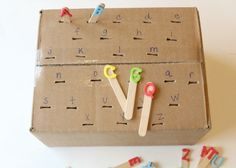 Simple & Frugal Fine Motor Letter Matching Activity
