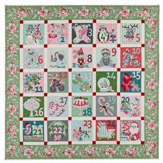 25 DAYS UNTIL block of the month pattern by Verna Mosquera. The complete pattern set includes a color photo of each block and full size applique pieces. Check your local quilt store later this month or visit www.thevintagespool.com