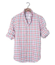 Button down madras check cotton shirt by gant rugger men for Linen shirts for mens in chennai