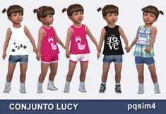 "PQSims4: ""Lucy"" set – top and shorts • Sims 4 Downloads"