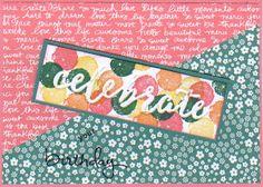 Celebrations Duo Embossing folders, Endless Birthday  en stippen van Word of Art,