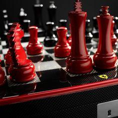 Ferrari Carbon Fiber Chess Set - $2050