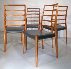 Moller #82 teak chairs - Denmark 1970s
