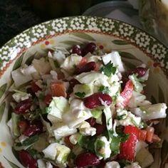 Salade van kidneybonen met feta en paprika