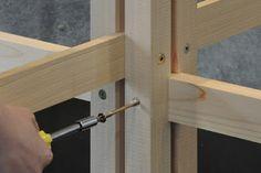 Empernado de estructura de madera para el techo