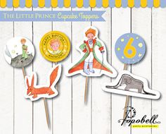 The Little Prince Cupcake Toppers for The Little by Popobell