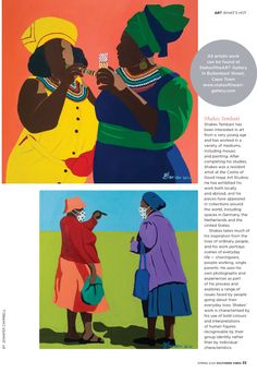 Art Scene: Balekane Legoabe, Shakes Tembani and Tanja Truscott Abstract Words, Online Painting, Online Art Gallery, Artist At Work, Mosaic, Scene, African, Mosaics, Stage