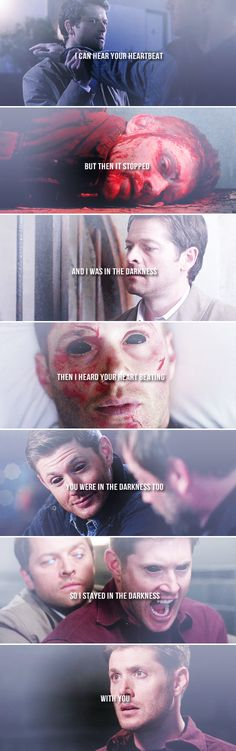 so i stayed in the darkness with you #spn #destiel