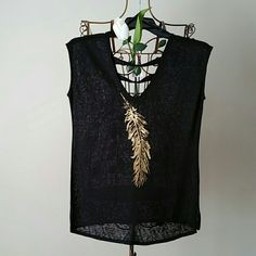 New Jessica Simpson Blouses. Never worn Brand new beautiful blouses.  Size Medium  Color Black Feather. Material : 54% Viscose                    46% Polyester  Smoke and pet free home.  Happy Shopping . Price negotiable feel free to make an offer. Jessica Simpson Tops Blouses