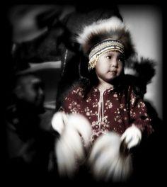 This YUPIK little one was dancing in the Cami Festival in Bethel, Alaska.  http://www.alaskanative.net/en/main_nav/education/culture_alaska/yupik/