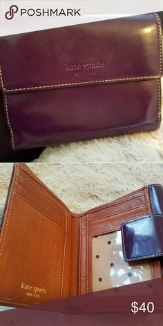 Genuine kate spade wallet cute You are buying a genuine kate spade wallet cute  wallet 4x4 purple Accessories