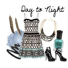Day to Night by croxz on Polyvore featuring Oasis, Gucci, BCBGMAXAZRIA, Yves Saint Laurent, Deborah Lippmann and day to night