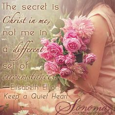 The secret is Christ in me, not me in a different set of circumstances.  See Planting-Peaches.net for many things you can do for free to help someone in need.