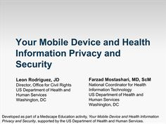 Your Mobile Device and Health Information Privacy and Security