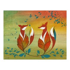 Our Morning Ritual Island Fox by malathip on Etsy, $20.00