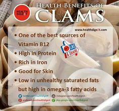 Health benefits of Clams