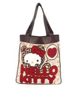 fb18799bbcc4 Hello Kitty leopard hug tote by Loungefly x Sanrio.