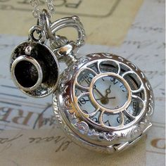 Amazon.com: Alice in Wonderland Tea Party Steampunk pocket watch necklace pw1: Everything Else