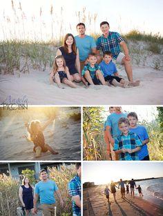Topsail Beach Summer Sunset Family Photos - Photography by Angela Piccinin - Wilmington NC Wedding and Family Portrait Photographer