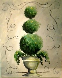 topiary painting   Topiary' will be the guided painting at the Nov. 18 Cocktails ...