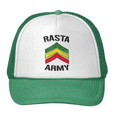 #custom #Jamaican Themed #gifts #hat #Oneloveshop -  Rasta army & reggae colors stripes.